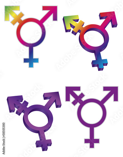Transgender Symbols Vector Illustration
