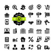 Set 32 web icons. Real Estate, property, realtor