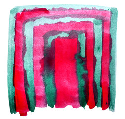 table red, green, band mesh chart stroke paint brush watercolor