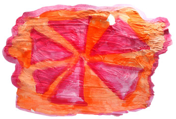 table red, orange, ornament chart stroke paint brush watercolor