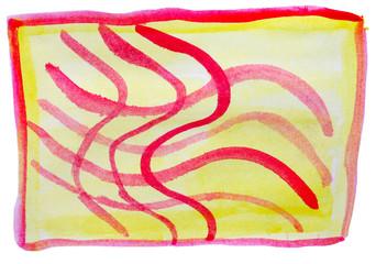 table yellow red ornament mesh chart stroke paint brush watercol