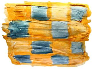 table yellow, blue, square mesh chart stroke paint brush waterco