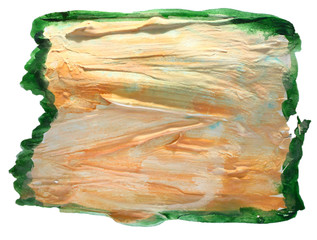 table yellow, green chart stroke paint brush watercolor isolated