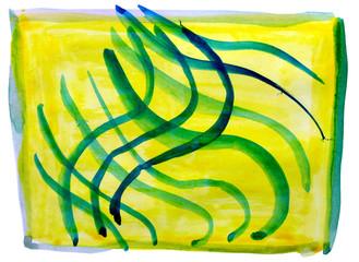 table yellow, green, ornament mesh chart stroke paint brush wate