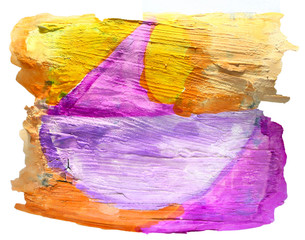 table yellow, violet, ornament chart stroke paint brush watercol