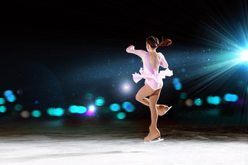 Little girl figure skating