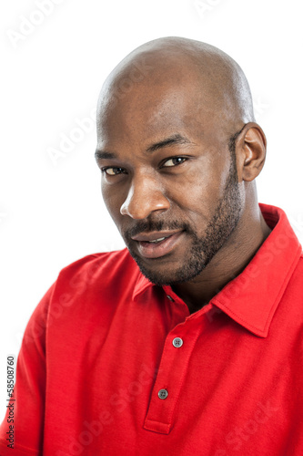 Handsome black man portrait