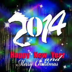 Creative New Year card.Christmas. New Year Horse. Vector