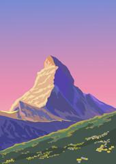 Matterhorn ( Akşamüstü)