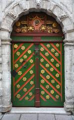 Vintage wooden door in tallinn