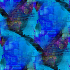 seamless cubism abstract blue art Picasso texture watercolor wal