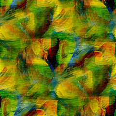 seamless cubism green, yellow abstract art Picasso texture water