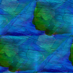 seamless green, blue cubism abstract art Picasso texture waterco