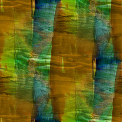seamless green, brown cubism abstract art Picasso texture waterc