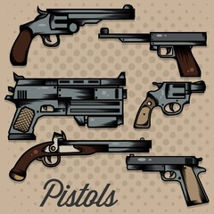 Pistol Cartoon Collection