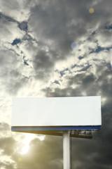 Blank street billboard