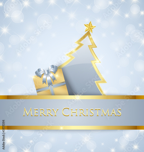 Christmas tree and gift decoration
