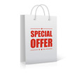 Shopping Bag on white with text Special Offer.