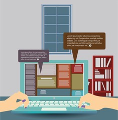 Online communication vector design.