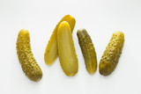 Pickled green gherkins