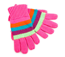 striped gloves