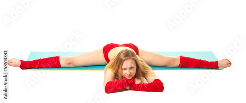 Girl doing exercise twine