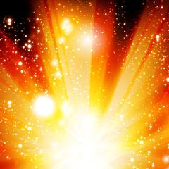 Vector golden christmas or glitter background