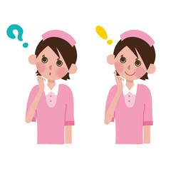 考える看護士