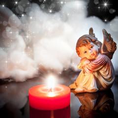 angioletto con candelina