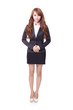confident young business woman standing