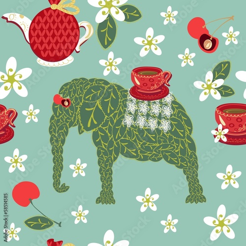 pattern tea elephant