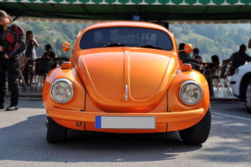 ZABLJAK, MONTE NEGRO - AUGUST 18: VW Beetle car on August 18, 20