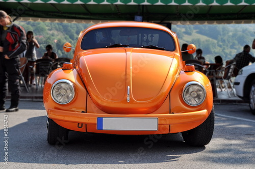 ZABLJAK, MONTE NEGRO - AUGUST 18: VW Beetle car on August 18, 20