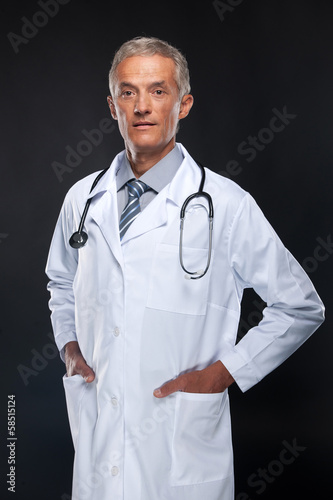 Friendly middle age doctor.