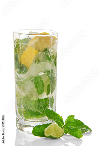 Cold cocktail of Mojito