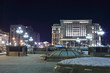 Manege Square in Moscow at night
