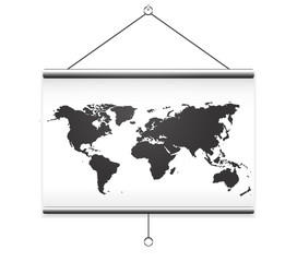 Projector screen map