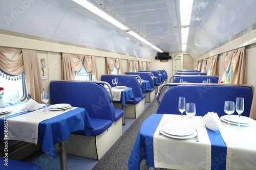 The restaurant in the train