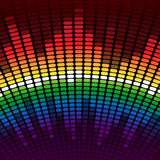 Rainbow equalizer vector background