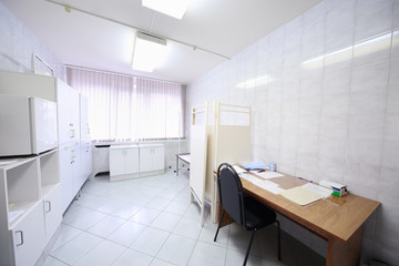 Interior of a light doctors consulting room