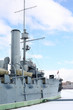 Warship cruiser Aurora at Petrogradskaya embankment
