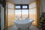 Beautiful classic bathtub in the bathroom
