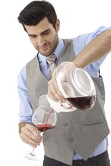 Sommelier in work