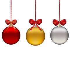 Набор из трех декоративных шаров на новый год и рожество