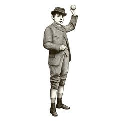 Garçon lançant sa balle