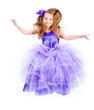 little girl in a beautiful purple dress