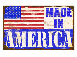 Made In America Enamel Sign