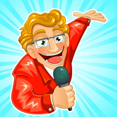 cartoon TV host