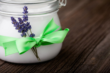 Natural lavender and coconut body butter DIY