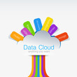 Cloud computing Creative design concept of data tree